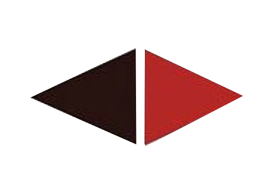 Ombudsman Educational Services mark - two isosceles triangles, one dark maroon one pointing left and one red triangle pointing right