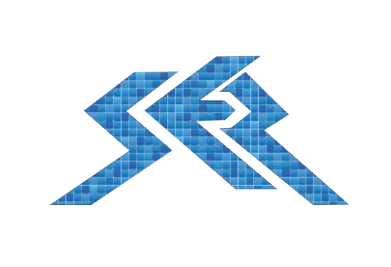 SER logo - a stylized blue S E Z with a tiled/pixel pattern in various colors of blue